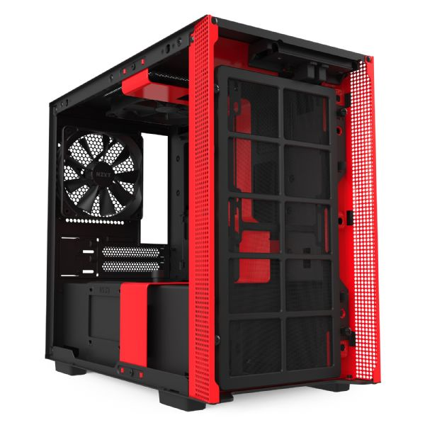 NZXT H210 Matte Black / Red Mini-ITX Tower Case